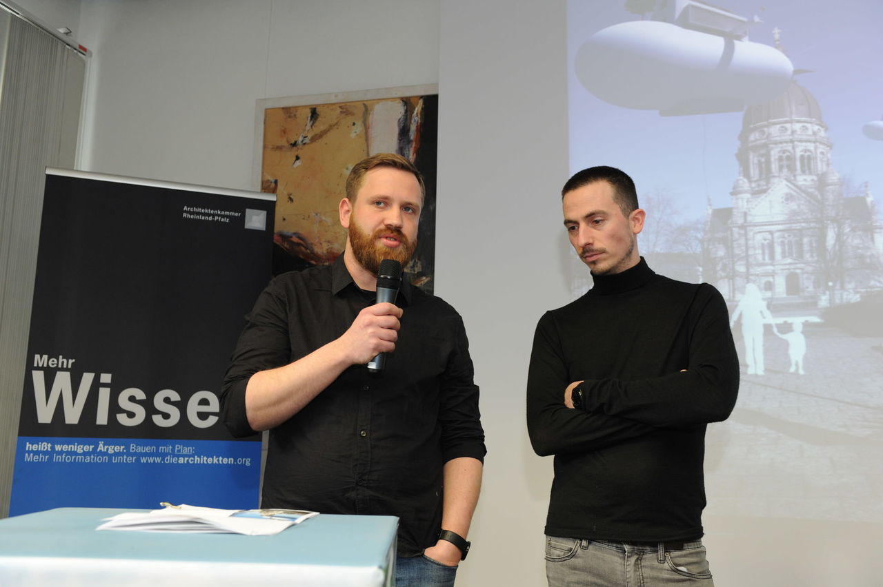 Architekt Andreas Meyer (links), Dipl.-Ing. (FH) und Frederic Gutperle, Dipl.-Ing. (FH) M.A. | FORMAAT GbR | Mainz.